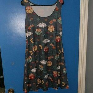 Dresses & Skirts - Hot air balloon moon cloud star dress